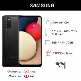 Samsung Galaxy A02s Mobile Phone 6.5-inch Screen 3GB RAM and 32GB Storage